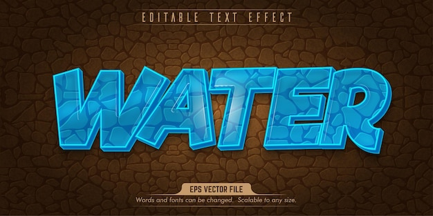 Water style editable text effect