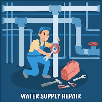 Water supply repair