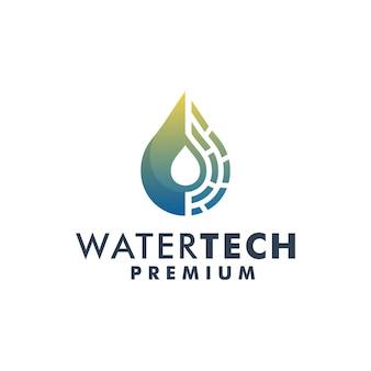 水技術ロゴデザインテンプレートベクトル