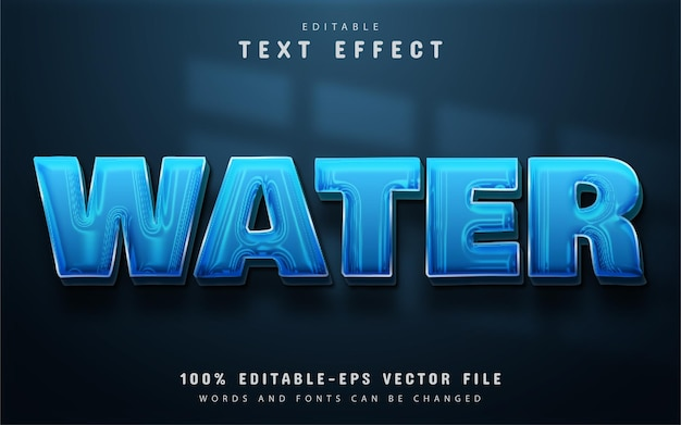 Water text effect editable