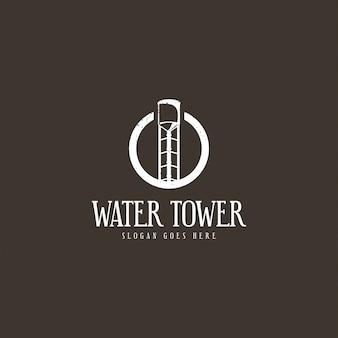 給水塔のロゴのコンセプト