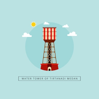 Water tower of tirtanadi medan
