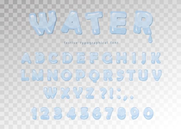 Water transparent font