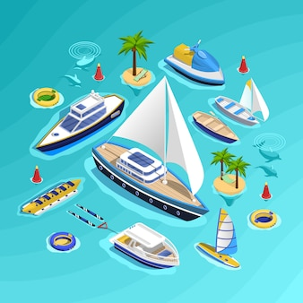 Water transport isometric collection