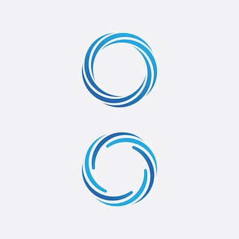 Шаблон логотипа значок волна воды