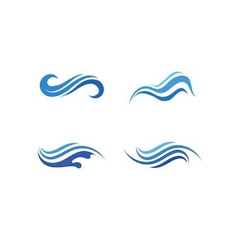 물 파도 아이콘 벡터 일러스트 디자인 로고