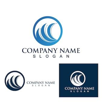 Волна воды значок векторные иллюстрации дизайн логотипа