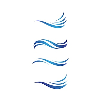 Шаблон оформления векторных иллюстраций значка волны воды