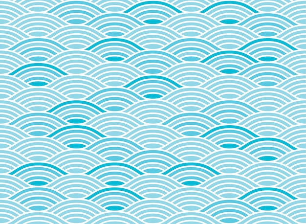 Water wave seamless pattern