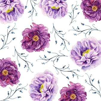Watercolor 2019 floral background