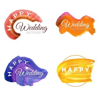 Акварель 25 свадебные юбилеи цветочные рамки