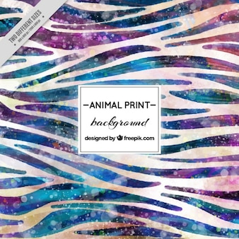 Watercolor abstract animal background