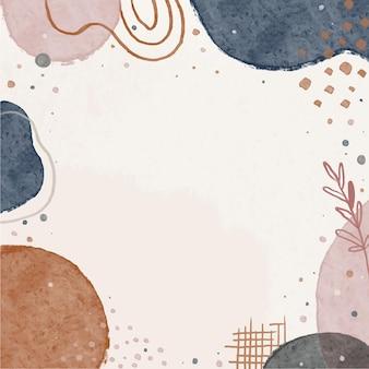 濃紺とヌード色の水彩抽象芸術の背景