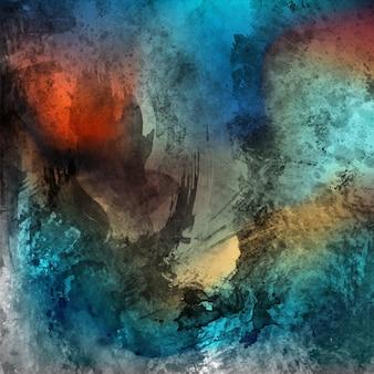グランジ効果のある水彩抽象的な背景