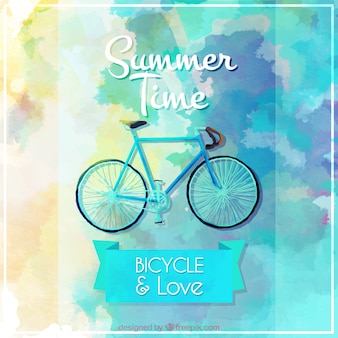 Watercolor abstract bike background