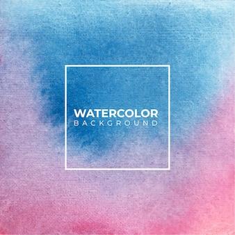 水彩抽象青とピンク色のテクスチャ背景。