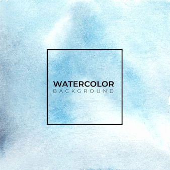 Watercolor abstract blue color texture background.