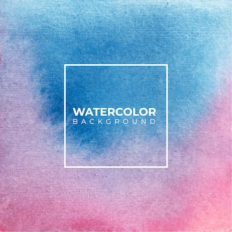 Watercolor abstract blue and pink colors texture background.