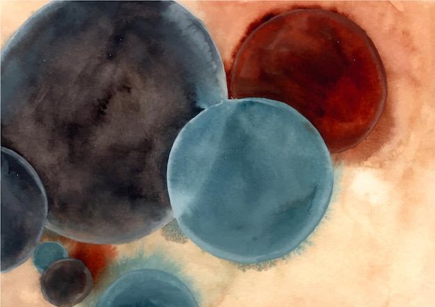 Watercolor abstract circles background