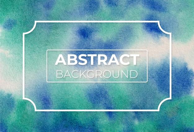 Watercolor abstract cobalt blue hue and viridian hue modern elegant design background