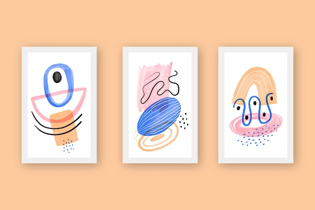 Watercolor abstract covers collection