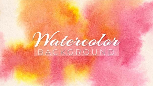 Watercolor abstract crimson lake and gamboge hue modern elegant design background