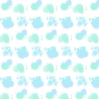 Watercolor abstract dotty seamless pattern