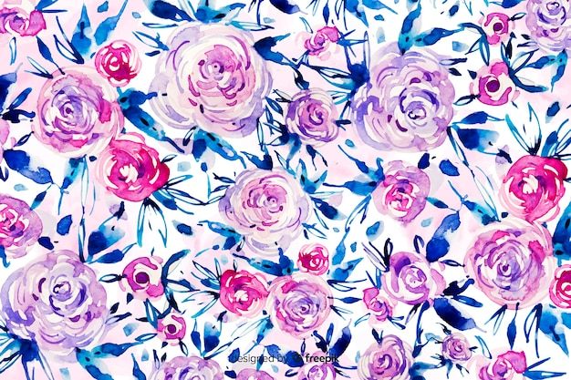 Watercolor abstract floral background