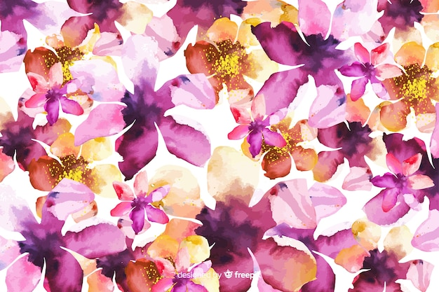 Watercolor abstract gradient floral background