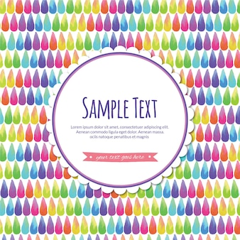 Watercolor abstract illustration with label