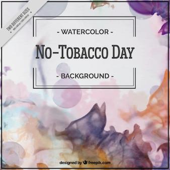 Acquerello astratto senza tabacco day background