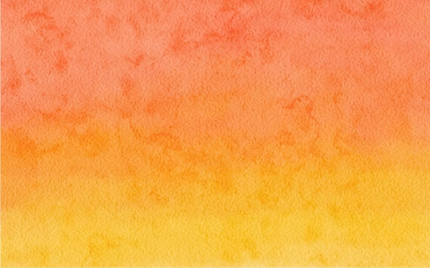 Watercolor abstract orange color background