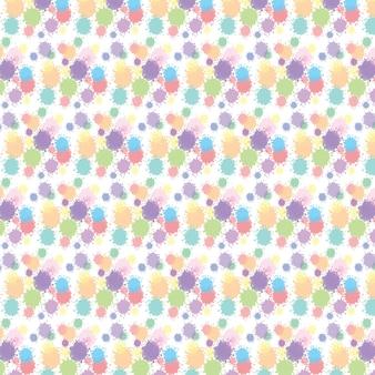 テクスチャにドットと水彩の抽象的なシームレスパターン