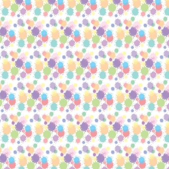 Watercolor abstract seamless pattern with dots on texture