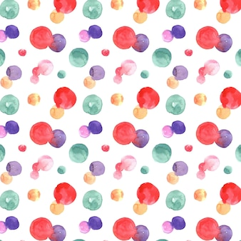 Watercolor abstract seamless pattern with dots