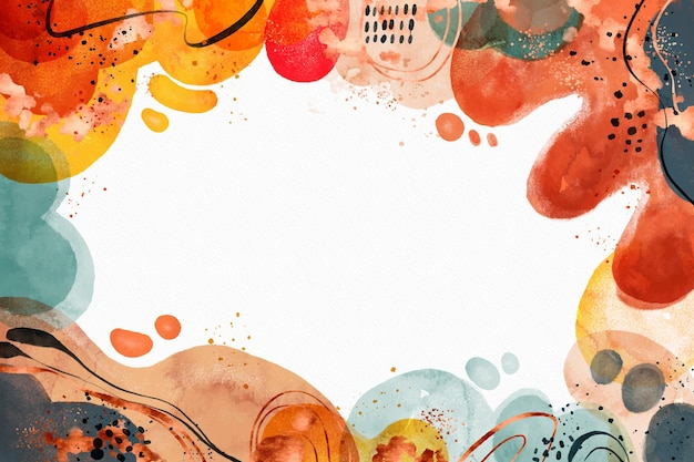 Watercolor abstract shapes background