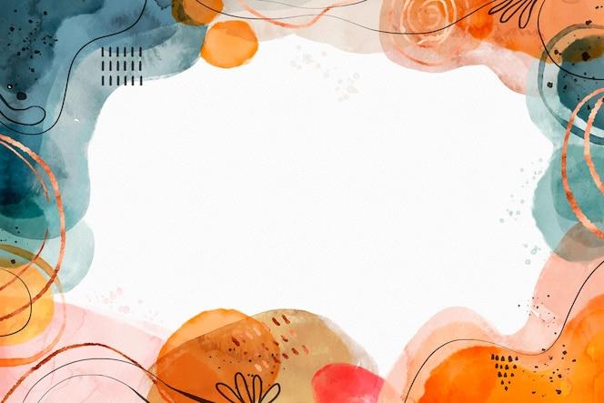 水彩の抽象的な形の背景