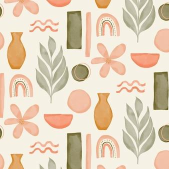 수채화 추상 모양 패턴