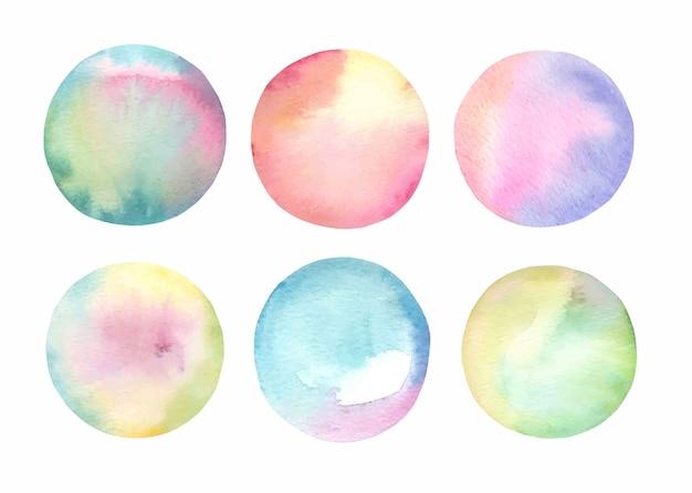 Watercolor abstract  splash set.