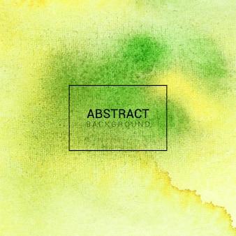 水彩の抽象的なテクスチャの緑と黄色の背景