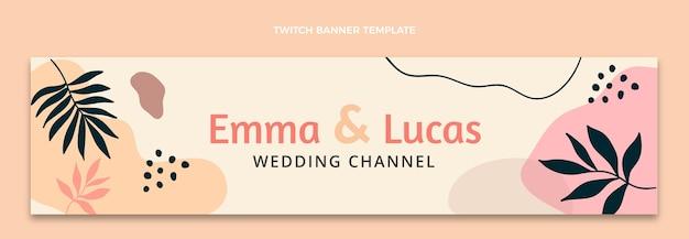 Banner di contrazione del matrimonio astratto dell'acquerello