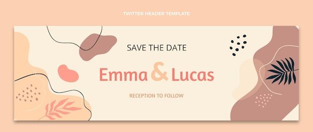 Акварельный абстрактный свадебный заголовок twitter