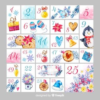 Календарь акварели