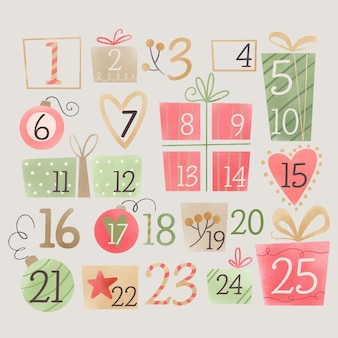 Watercolor advent calendar