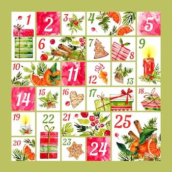 Акварельный календарь появления