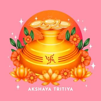 水彩akshayatritiyaイラスト