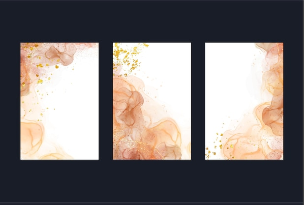 Watercolor alcohol ink covers template