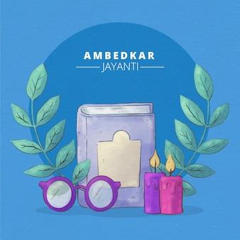 Акварель амбедкар джаянти иллюстрация