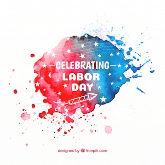 Watercolor american labor day composition