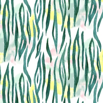 Watercolor animal print pattern
